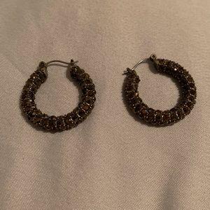 Lia Sophia bronze hoop earrings